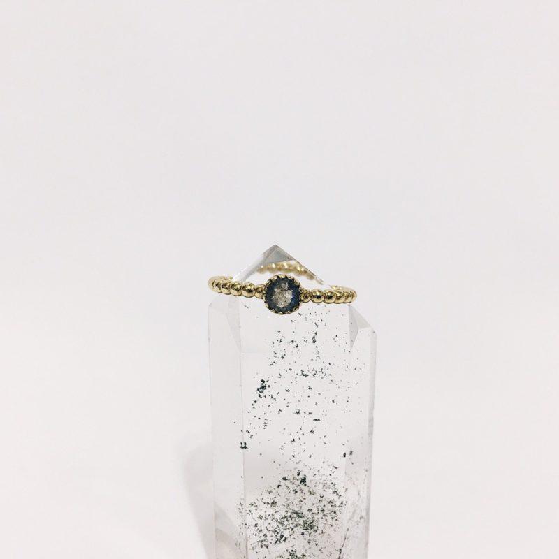 Anillo Gold Labradorita