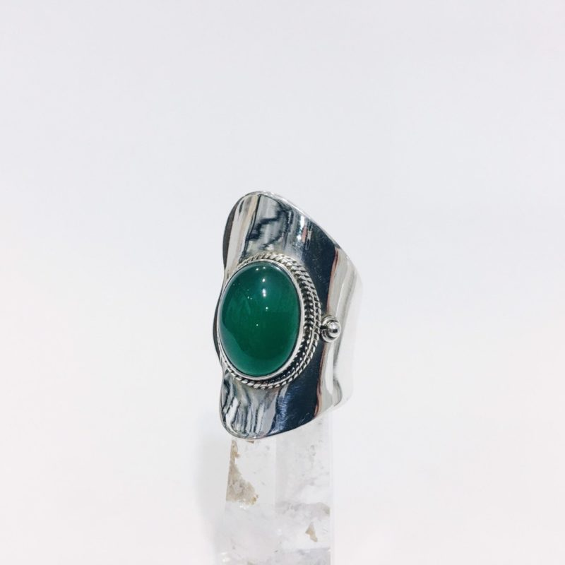 A24 Anillo adaptable Ágata Verde