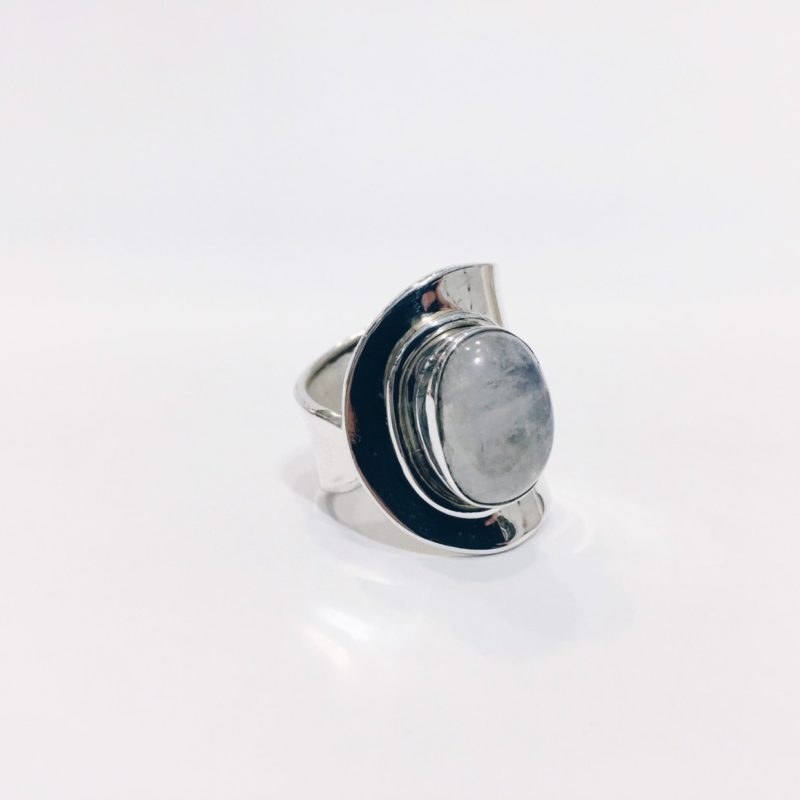 A17 Anillo adaptable Piedra Luna
