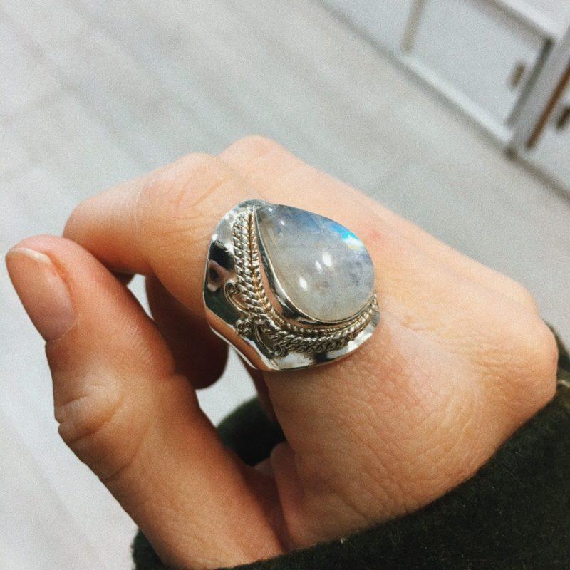 A20 Anillo adaptable Piedra Luna