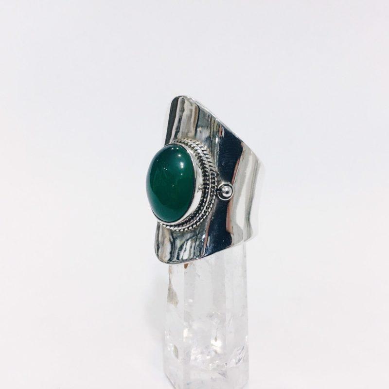 A24 Anillo adaptable Ágata Verde