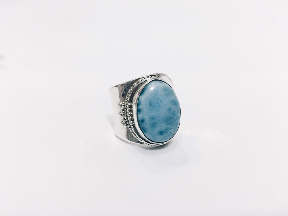 A4 Anillo Larimar adaptable